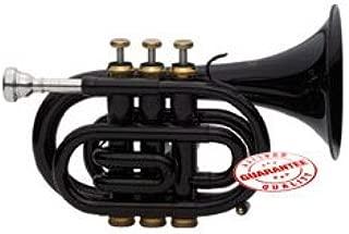 Fever Black Pocket Trumpet With Case, WALPOKL-BK
