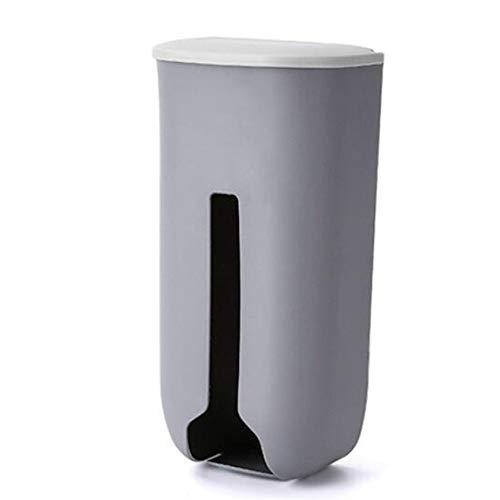 EMFGJ Bolsa de plástico para colgar en la pared, bolsa de almacenamiento de plástico, organizador de bolsas de basura para cocina, viajes, color gris