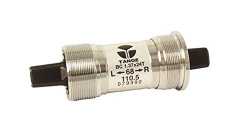 Tange Seiki ln-3922Inglés Square Taper pedalier JIS 68x 103–127,5mm BB, Ln-3922, plata