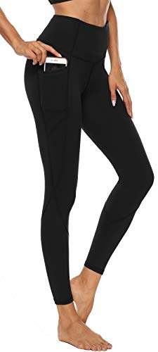 Persit Sport Leggings Damen, Sporthose Sport Tights Yoga Leggins Yogahose Schwarz-XL