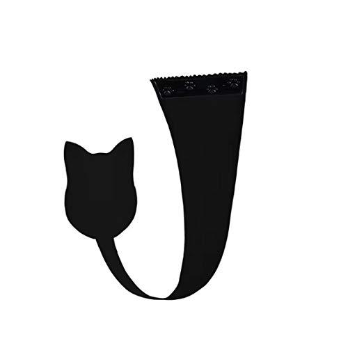 HTRUIYATY Womens C-String Panty Invisibili Gatto a Forma di Auto Adesivo Senza Spalline Elegante Perizoma Intimo (Nero)
