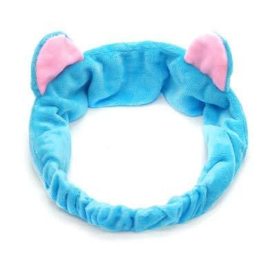 JZCXKJ 8 PcsCute Peach Wash Headband Heart Girls Hair Band Sweet Korean Shower Mask Makeup Headwrap Elastic Soft Turban Hair AccessoriesB7