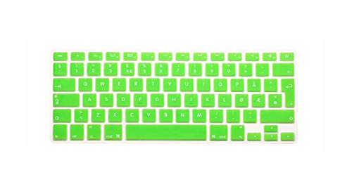 Funda protectora de silicona para MacBook Air Pro Retina 13 15 17 para Mac Air de 13,3 pulgadas, color verde