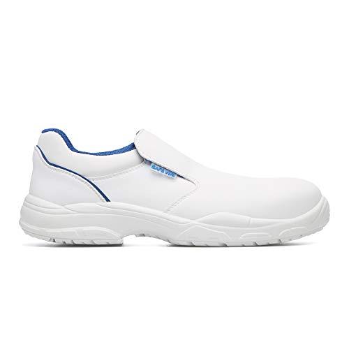 Exena S2 - Zapatos de seguridad con tapa protectora para alimentos, color blanco, color Blanco, talla 42 EU