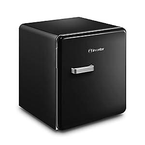 Inventor Mini-réfrigérateur Retro, Capacité 47 litres, Noir, Compact, Style Rétro Années 50, Silencieux, Pieds réglables, Garantie de 2 ans