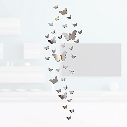 Pegatinas pared mariposas, 35 piezas pared pegatinas mariposa decorativas, 3d pegatinas de murales autoadhesivas, decoración pared para decoración del hogar, adecuado para decoración paredes