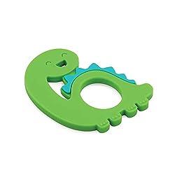 2. Bumkins Dinosaur Silicone Teether