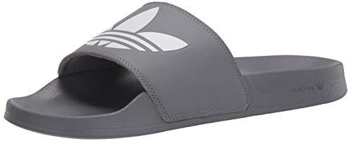 adidas Originals Herren Adilette Lite Slipper, Grau/FTWR Weiß/Grau, 45 EU
