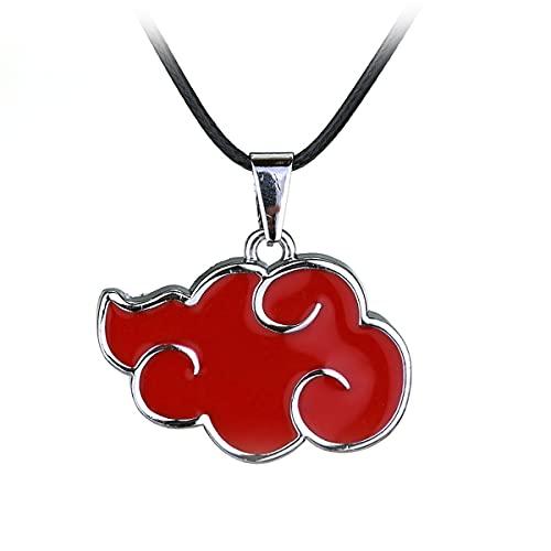 Naruto Akatsuki Member Cosplay Red Cloud Shape Pendant Necklace