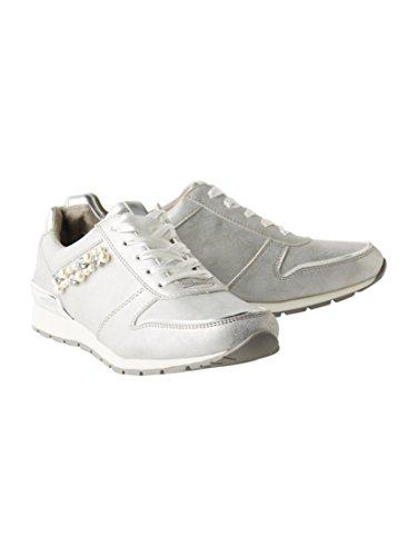 TOM TAILOR Damen 4894103 Sneaker, Silber (Silver), 38 EU