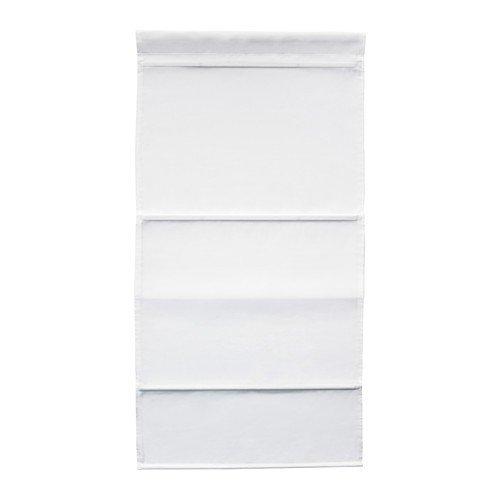 Ikea RINGBLOMMA Faltrollo in weiß; (80x160cm)