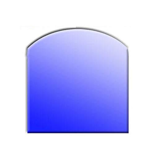 Glasbodenplatte für Kaminöfen Segment Bogen 1000x1200 8mm