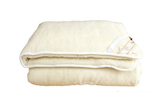 Alpenwolle Unterbett, Matratzenauflage, Bettauflage, Schonbezug 100% Wolle (140x200)