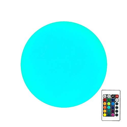 PK Green Erstklassige LED Kugel Tischlampe mit Akku | 15cm Stimmungslicht Dimmbar mit Farbwechsel, Fernbedienung | Nachtlampe Modern RGB für Schlafzimmer, Wohnzimmer | Sensorisches Spielzeug Kinder