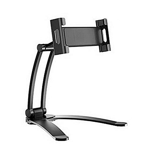Monifuon Desktop & Wall Pull-Up Lazy Bracket Cell Phone Mount Wall Tablet Holder Stand(S black)