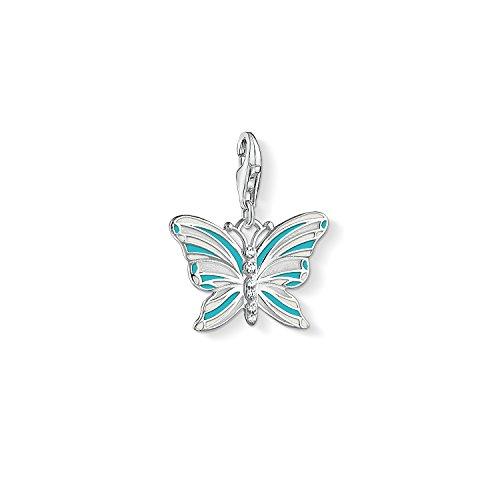 THOMAS SABO Damen-Charm-Anhänger Schmetterling Charm Club 925 Sterling Silber 1515-041-17
