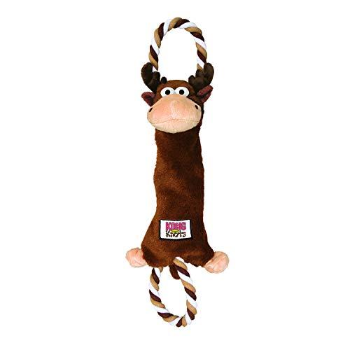 KONG – Tugger Knots Moose – Zerrspielzeug, Minimal Gefüllt, Robuste Schlaufen – Für Mittelgroße/Große Hunde
