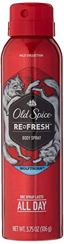 Old Spice Wild Collection Re-Fresh Deodorant Body Spray, Wolfthorn 3.75 oz (Pack of 2)