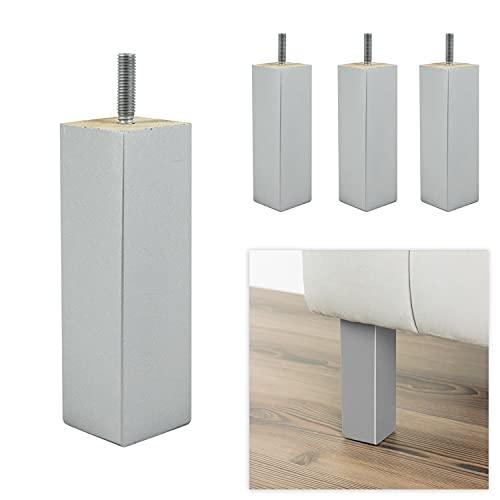 P17 | Modello G1 | SET da 4 Piedi con viti innestate (10MA) | Alluminio | H.16 | | Gambe per divani poltrone mobili | Piedini in legno |
