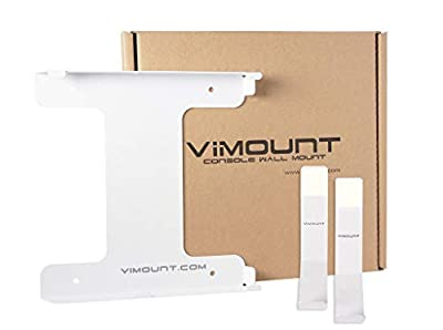 Playstation 4 Slim + 2pcs Controller Wall Mount PS4 White Metal Holder - Worldwide Shipping