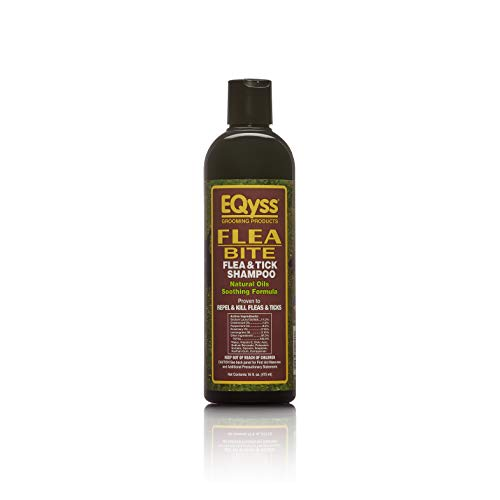 Eqyss Flea Bite Flea and Tick Pet Shampoo - Proven to Repel and Kill Fleas & Ticks. Natural Oils Smoothing Formula. Safe for Dogs, Puppies, & Cats Over 12 Weeks Old. Made in The USA.
