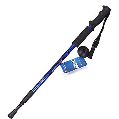 XYL HOME Poteau de randonnée Touristique télescopique Scorpion de Neige ultraléger Vieil Homme bâton de Marche Canne Cannes, poignée Droite Bleu Set