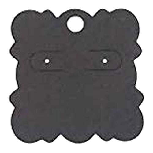 (I) 2穴 ビスケット型ピアス台紙 5枚セット (カラー)04 ペーパータグ アクセサリー台紙 クラフト 厚紙 値札 ラッピング 人気 プレゼント