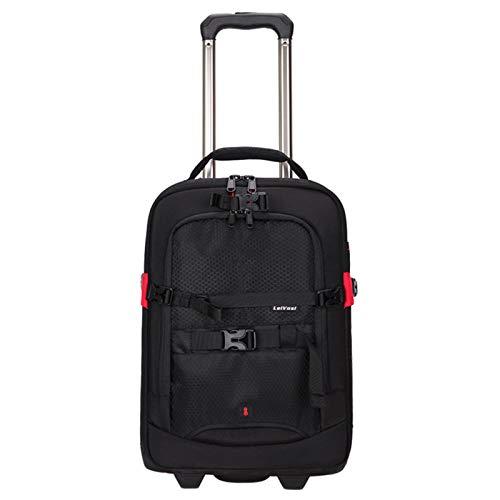 DFGRFN Trolley Bag Dslr Camera Backpack,Camcorder Digital Camera Bag,Luggage Travel Trolley Photography Backpack,Convertible Rolling Camera Rucksack,Red