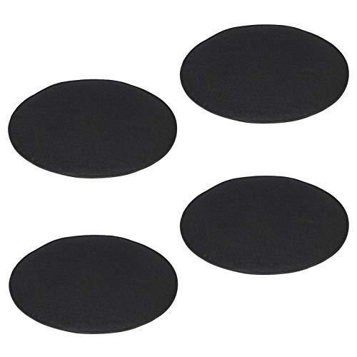 IDIMEX Sitzkissen JONITA aus Filzstoff, Stuhlkissen Sitzpolster Stuhlpolster, im 4er Set, mit Filzstoff in schwarz und Polsterung rund