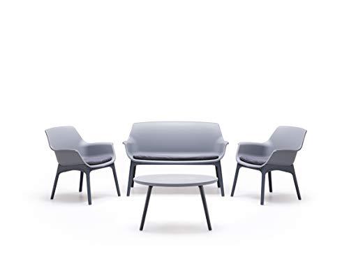 BICA Luxor Lounge Set Grigio/Antracite Giardino