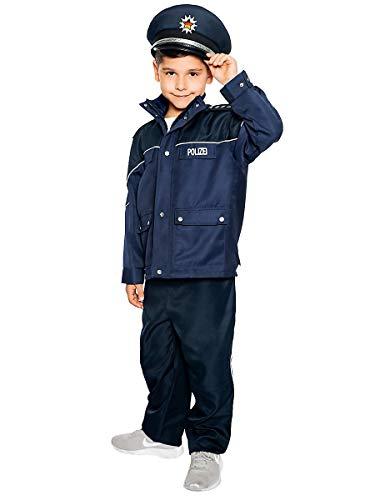 Maskworld Authentische Polizei-Uniform für Kinder - Polizist Kinder-Kostüm für Karneval Fasching & Halloween - Verkleidung Anzug Größe 168