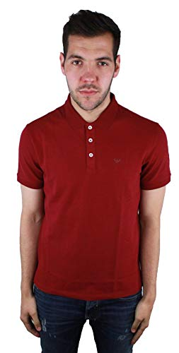 Photo of Emporio Armani – Polo Shirt – Solid Color – Classic – Short Sleeve – Men Red 3XL