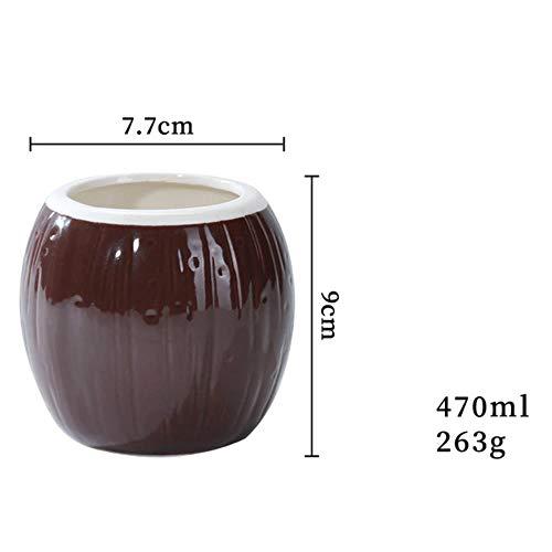 LXP Estatua Calavera Bar Cóctel Vaso Mezclador Vino Batidos Taza Recipiente, Diseño de Coco 14