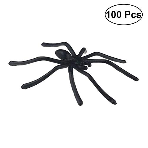 Soul hill 100pcs Gefälschte Spinne Versteckte Kamera Requisiten Realistische Kunststoff-Spinne for Prank Halloween-Party zcaqtajro