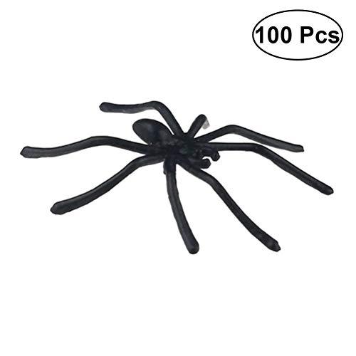 Soul hill 100pcs Gefälschte Spinne Versteckte Kamera Requisiten Realistische Kunststoff-Spinne for Prank Halloween-Party zcaqtajro