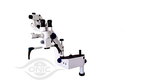 Wall Mount Dental Microscope 5 Step,0-180° Inclinable Binoculars with Advanced LED Illumination ISO CE Dr.Onic