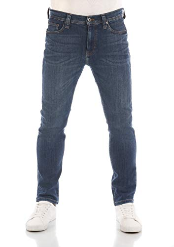 MUSTANG Herren Jeans Vegas Slim Fit Jeanshose Hose Denim Stretch Baumwolle Schwarz Grau Blau w30 - w40, Größe:38W / 36L, Farbvariante:Denim Blue (5000-883)