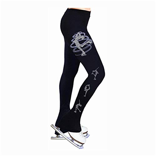 Hhwei Damen Thermo Leggings Eiskunstlauf Activewear Lange Trainingshose,B,130
