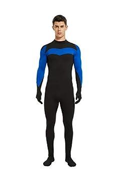 Tightstore Unisex Spandex Zentai Suit Halloween Costumes Superhero Bodysuit Cosplay Adult/Kids 3D Style  Adult XXX-Large height 6 4  -- 6 7   Super Blue
