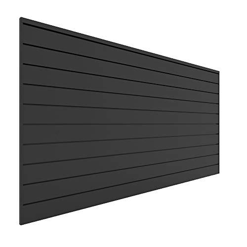 Proslat 88105 Heavy Duty PVC Slatwall Garage Organizer, 8-Feet by 4-Feet Section, Charcoal