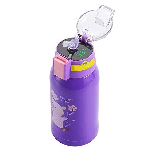 wuxafe Frasco de Vacío de Acero Inoxidable Aislamiento Doble Pared Botella termica para Niños Colegio Oficina Aire Libre