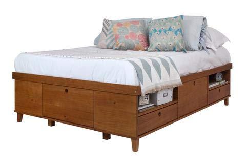 Memomad Letto Charme 160x200 cm - Letto contenitore con 7 cassetti - Letto moderno in legno di pino massello ideale per le camerette - Il prezzo include la rete a doghe (senza materasso)