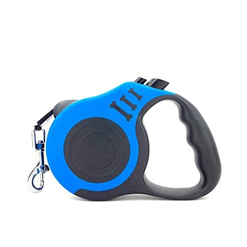 XXWW Cxwypd Correa Retráctil De Perros Retráctil 3M / 5M Perro Retráctil Automático Correa De Gato De Perrito para Pequeños Y Medianos Material para Perros (Color : Blue 5M)