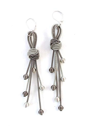 The Island Pearl Stainless Steel Earrings Charcoal and Silver