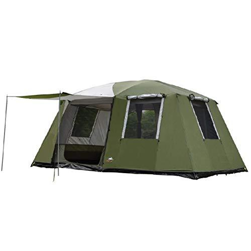 Yamyannie Tiendas de Campaña 1Hall Dos Habitaciones 6-12 Personas Capas Dobles Camping Tienda Grande Gazebo para Camping y Senderismo (Color : Verde, Size : 230x305x210cm)