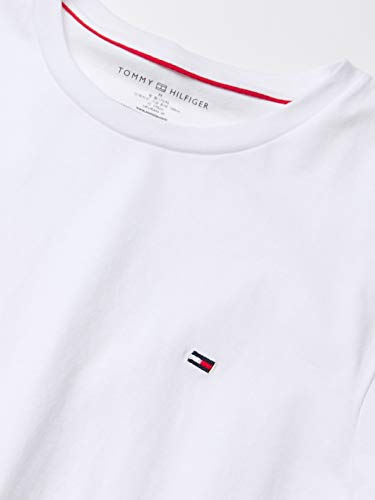 Tommy Hilfiger Men's Short Sleeve Crew Neck Flag T-Shirt, White, Large