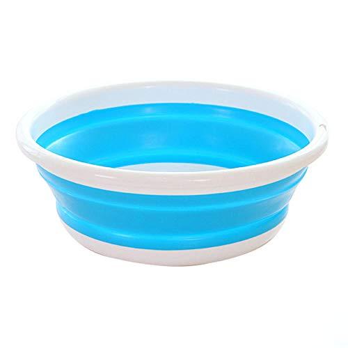 Alberta Folding Becken Eimer bewegliche Faltbare Wäsche Waschbecken Haushalt Car Wash Travel Outdoor-Camping-Washing-Badezimmer-Bassin-L-Blau (Color : L Blue)