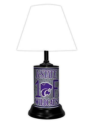 TAGZ SPORTS UNLIMITED Kansas State Wildcats NCAA Desk/Table Lamp with White Shade