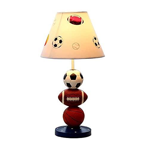 LATOO Lámpara de escritorio creativa en forma de bola para dormitorio, lámpara de noche, decoración de atenuación para niños, lámpara de mesa simple moderna de 25 x 50 cm (color: B)