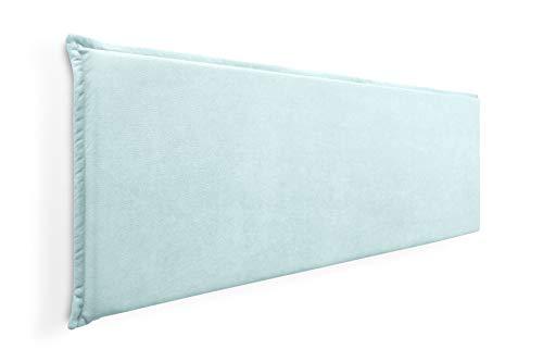 Cabecero de Espuma Jazmin Foam Liso con Ribete, Desenfundable, para Camas de 150 (164 x 52 cm) Tela Verde Agua